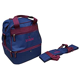 Acclaim Staple Nylon Four Bowl Level Lawn Flat Green Short Mat Locker Bowls Bag And Four Bowls Carrier (Navy Blue/Burgundy)
