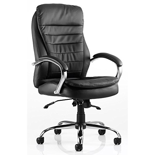 Best Price Dynamic Rocky Executive Leather High Back Chair with Arms – Black Review