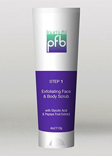 PFB Vanish Liquid Luffa Exfoliating Face and Body Scrub by