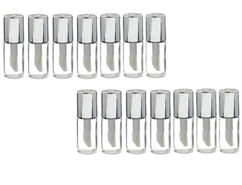 ericotry 121,2ml ml leer nachfüllbar Kunststoff Lip Gloss Lip Balm Tube–Flasche Container Ampullen Mini DIY Lippenstift Make-up Tube Flasche mit Silber Deckel
