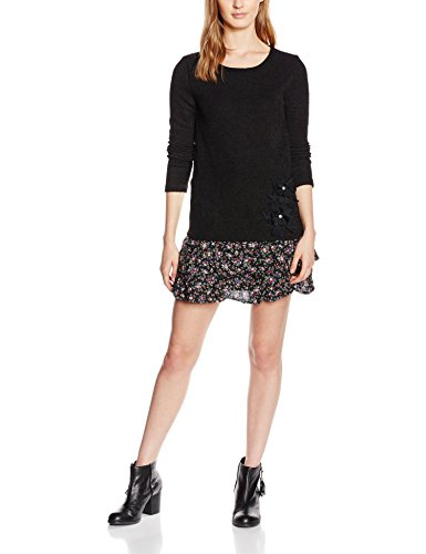 Molly Bracken I6210A16 - Robe - Manches longues - Femme - Noir (Black) - FR: 40 (Taille fabricant: M