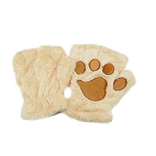 Demarkt Mädchen Katze Klauen Handschuhe Kostüm Neuheit Geschenk Winter Halb Finger Fingerlose Handschuhe Keyboard