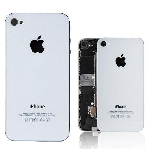 Vitre coque arrière Blanc Haute Qualité remplacement pour Iphone 4 complet avec chàssis prémonté