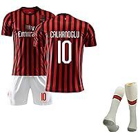 YLHLZZ para Romagnoli 13 Calhanoglu10 Kaká 22, Uniformes de fútbol para niños jóvenes,Uniforme de fútbol Local para la Temporada 19-20, el Mejor Uniforme de fútbol de Entrenamiento
