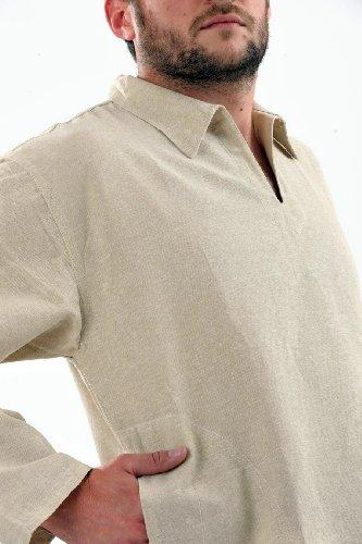 Fantazia-Hemd mit relax, Hanf Mehrfarbig - Beige