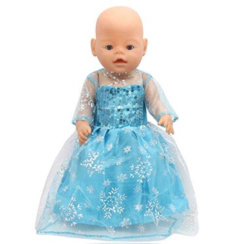 dung 43 cm, blau, zb. für die Baby Born (Elsa Kostüme Baby)