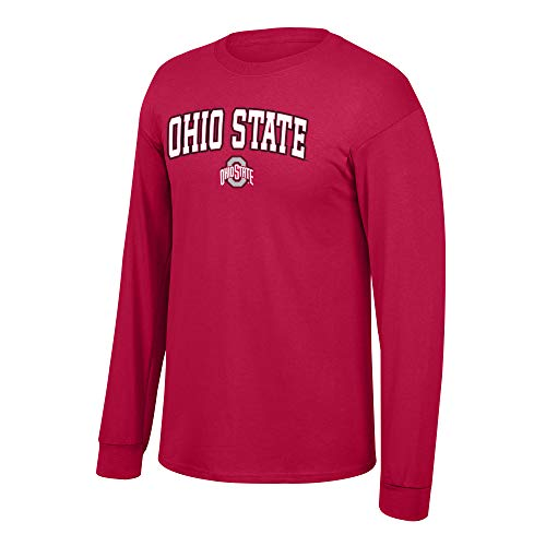 eLITe Fan Shop NCAA Long Sleeve Shirt Team Farbe Arch, Herren, NCAA Long Sleeve Shirt Team Color Arch, True Red, X-Large (Dart Board Cover)
