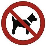 Cartel prohibido llevar los Perros según ASR a1.3/DIN 7010aluminio 20cm de diámetro (Perros prohibición, prohibido) praxisbewährt, resistente a la i