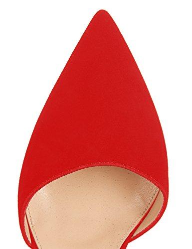 Guoar - Scarpe chiuse Donna Rosso (rosso)