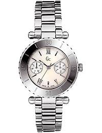 Guess Collection Diver Chic 20026L1 - Reloj analógico de mujer de cuarzo con correa de acero inoxidable plateada