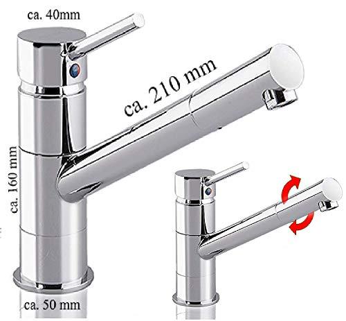 Küchenarmatur w107 Niederdruck Spültisch Armatur Küchen Wasserhahn Spüle - 3