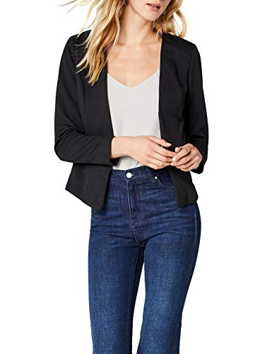 ONLY Damen Anzugjacke onlANNA Short Blazer NOOS TLR, Schwarz Black, 36