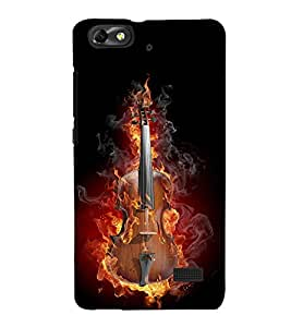 Burning Guitar 3D Hard Polycarbonate Designer Back Case Cover for Huawei Honor 4C :: Huawei G Play Mini