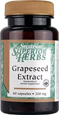 Swanson Superior Herbs Grapeseed Extract (200mg, 60 Capsules) from Swanson Health Products
