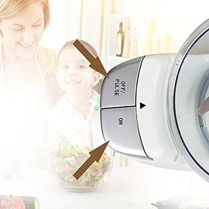 Aigostar-VitaFresh-30HLX-Elektrischer-Universalzerkleinerer-Multi-Zerkleiner-3-in-1-Klinge-Scheibe-Schredde-250-Watt-720ml-BPA-freiEINWEGVERPACKUNG