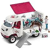 Schleich 42370 - Mobile Tierärztin mit Hannoveraner Fohlen - Spielzeug