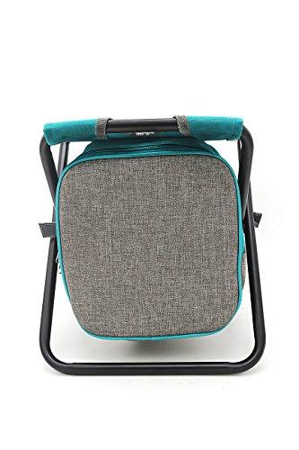 Tabulete plegables con bolsa nevera de pesca silla portátil, silla plegable de...