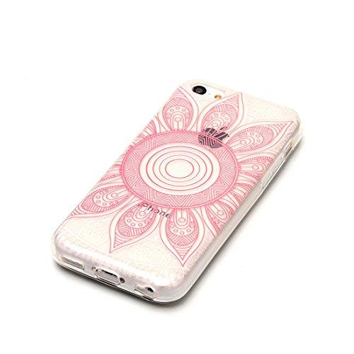 iPhone 5C Custodia,iPhone 5C copertura,piuttosto Custodia in TPU Gel Ultra sottile [Trasparente] Custodia protettiva in gomma flessibile case cover para for iPhone 5C colour 3