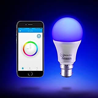 AURAGLOW 9W B22 Bluetooth Colour Changing Sunrise Warm & Cool White 60W Eqv LED Smart Light Bulb