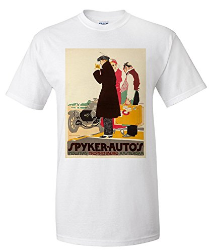 spyker-autos-vintage-poster-artist-van-der-hem-pieter-holland-c-1914-premium-t-shirt
