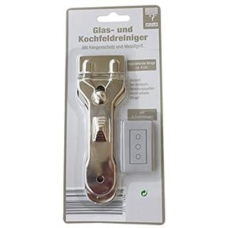 Glasschaber inkl. 5 Ersatzklingen mit Doppelschneide Ceranfeldschaber