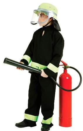 nder-Kostüm Feuerwehrmann, Gr. 128 ()