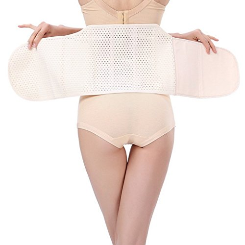 Tangda Damen Shaping Postnatal Erholung Bauchgurt High Hüftgurt Beckengurt Gürtel Fitnessband Shaping Body Slimming Belt - Schwarz/Apricot Apricot