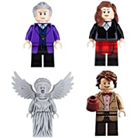 Dr Who figure set fits Lego 4 Piece BBC Doctor Minifigure Giftset Toy