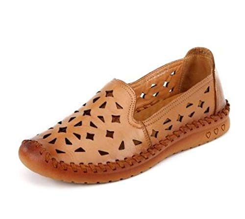 Frauen aushöhlen Loafers Closed Toe Slip on Flache Sandalen Weiche Bequeme Mokassins Walking Outdoor Freizeitschuhe Sofft Slip Heels