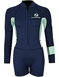 Womens Harmony 3/2mm Long Sleeve Shorty Wetsuit