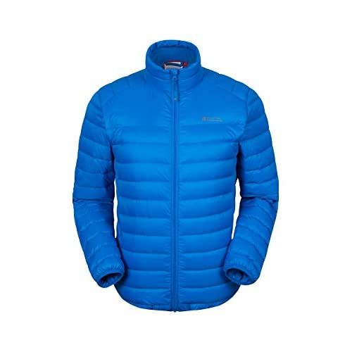 41xF9gsmmML. SS500  - Mountain Warehouse Featherweight Mens Down Jacket - Lightweight Winter Coat, Easy Care, Packaway Bag, Water Resistant Rain Jacket – for Camping, Travelling & Walking