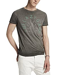 Scotch & Soda Herren T-Shirt Shortsleeve Tee in Melange Jersey Quality with Graphic Artwork
