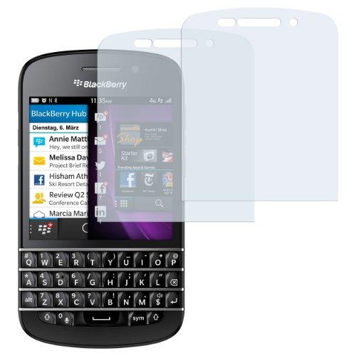 mumbi Schutzfolie kompatibel mit Blackberry Q10 Folie klar, Bildschirmschutzfolie (2x)