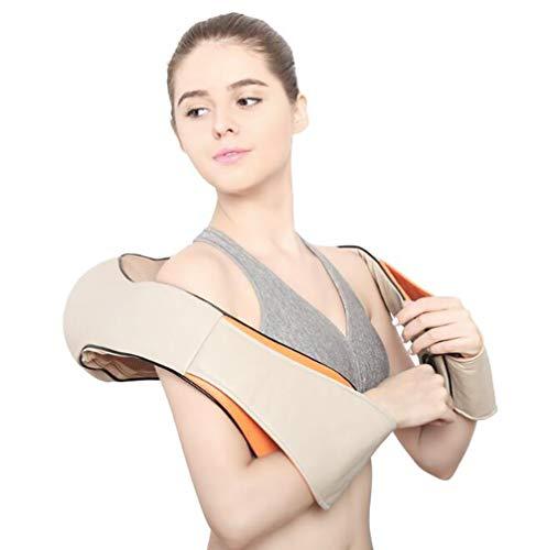 Massaggiatore per Collo Schiena e Spalle Shiatsu Massaggiatore Elettrico e Profondo Massaggio Impastante Intensità Regolabili per Uso Domestico in Ufficio