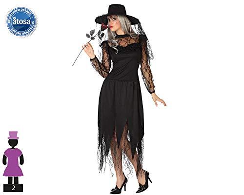 Erwachsene Witwe Für Schwarze Kostüm - ATOSA-Verkleidung Schwarze Witwe Erwachsene, T2