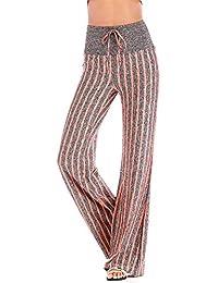 Pantalon Femme Yoga Sport Taille Elastique en Coton Confortable Danse Fitness  Yoga Jogging eb3e447ff05