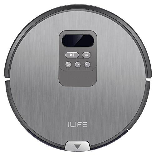 *ILIFE V80 automatischer Saugroboter i-move Navigation mit Wischfunktion / 80mm flach / Bürstenlos / Für alle Böden und Tierhaare / Über 2 Stunden Laufzeit / Staubbehälter 750ml / Wassertank 300ml / 2in1 nass Wischen oder Staubsaugen / intelligenter Timer*