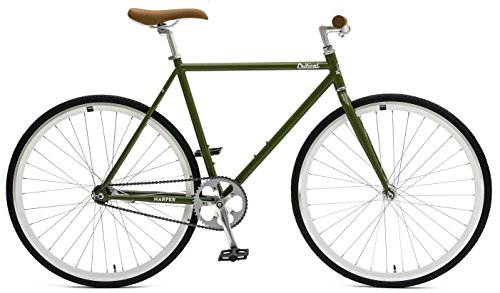 Critical Cycles Unisex Harper Fixed Gear Urban Commuter Single Speed Bike, Sage Green, 57 cm
