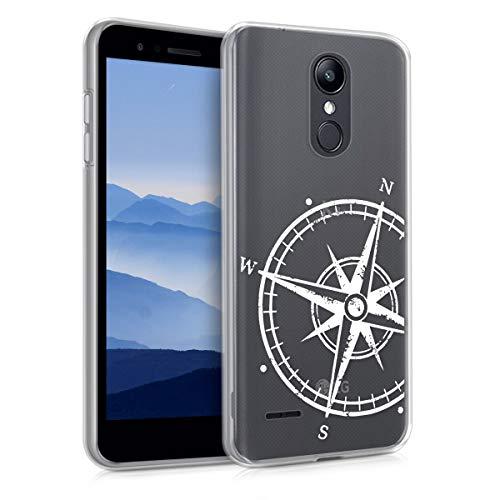 kwmobile LG K8 (2018) / K9 Hülle - Handyhülle für LG K8 (2018) / K9 - Handy Case in Weiß Transparent