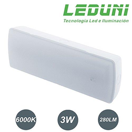 Luz de emergencia Led 280Lm 3W luz frio (EMPOTRABLE)