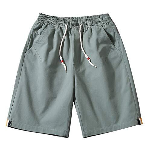 hahashop2 Herren Shorts Kurze Hose Jogging-Hose Sport Shorts Freizeit Shorts Sweat-Shorts Bermudas - Einfache Spitzen-Shorts