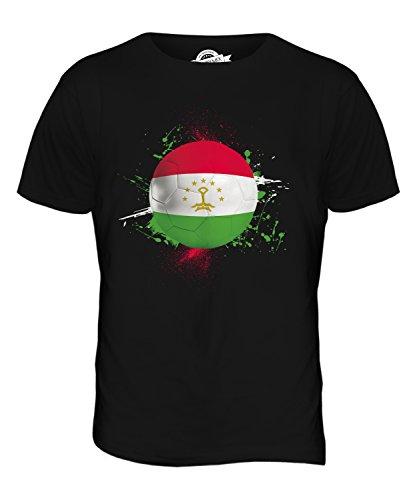 CandyMix Tadschikistan Fußball Herren T Shirt Schwarz