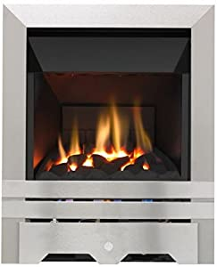 Lilliput High Efficiency Gas Fire - Brushed Steel