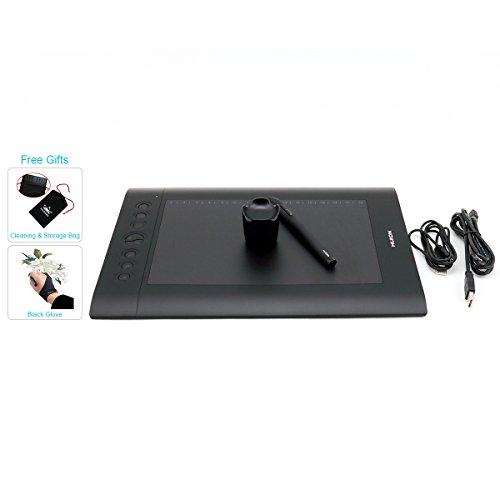 Huion H610 Pro - Dibujo de Tableta gráfica Con Bolsa y Guante de Dibu