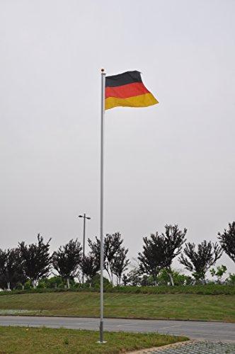 Alu Fahnenmast 6,50 m Fahnenmast Fahnenstange Flaggenstange Fahne