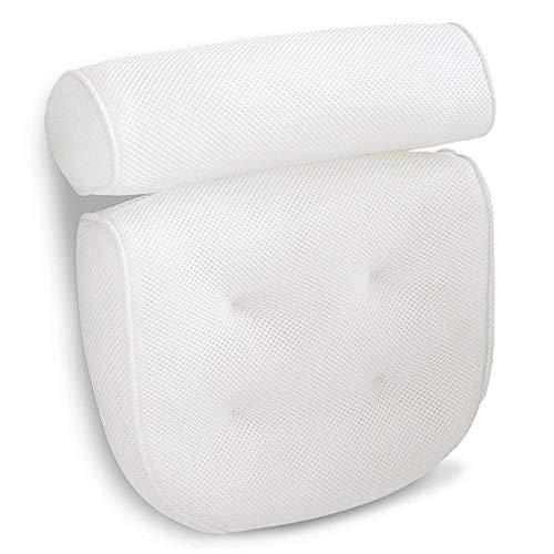 Almohada de baño Almohada de baño, Bañera Spa almohada con fuerza 4 ventosas for la tina de hidromasaje...