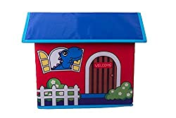 Kids Toy Storage House With Blue Dinosaur And Letters