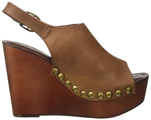 Jeffrey Campbell Snick Leather, Sandali con Tacco Donna Marrone