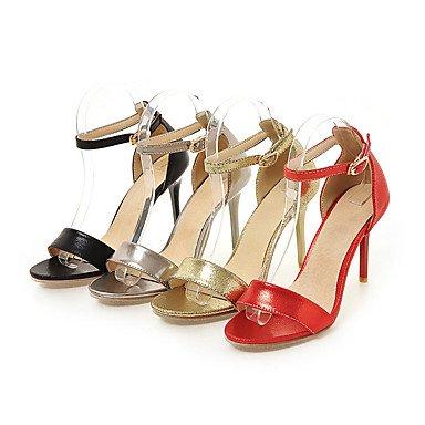 LvYuan Da donna Sandali Finta pelle Primavera Estate Autunno Fibbia A stiletto Oro Nero Argento Rosso 7,5 - 9,5 cm Gold
