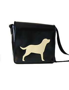 Schultertasche Hundemotiv Labrador Elfenbein H 30 B 32 T 11